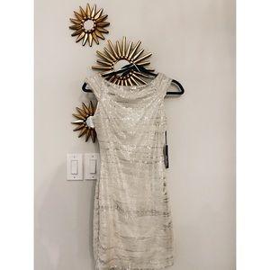 Lulus Silver Sequins Bodycon Dress